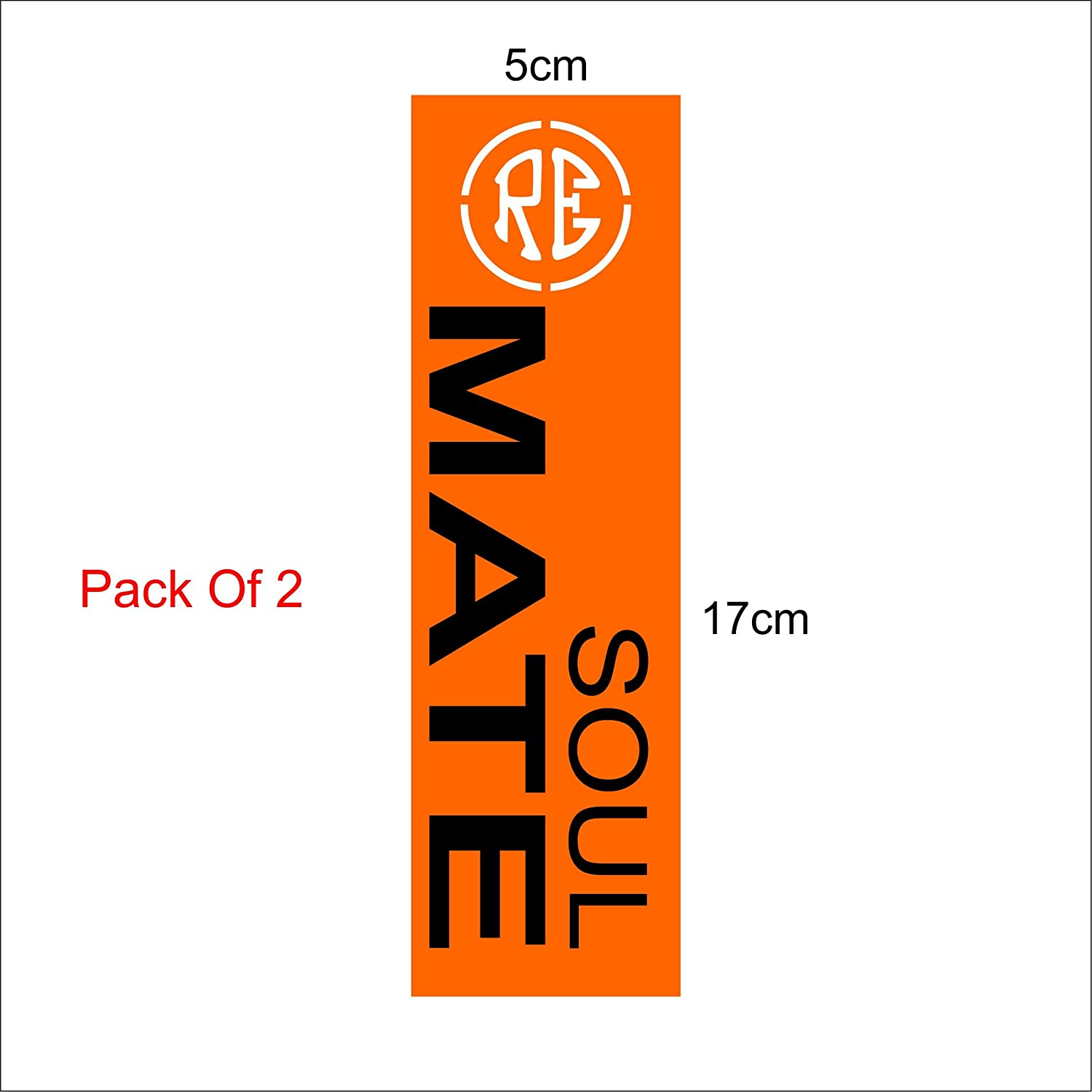 Isee360 soul mate with white re logo orange background stem sticker for royal enfield classic 350 bike 500 black stem visor chaise car windows rear