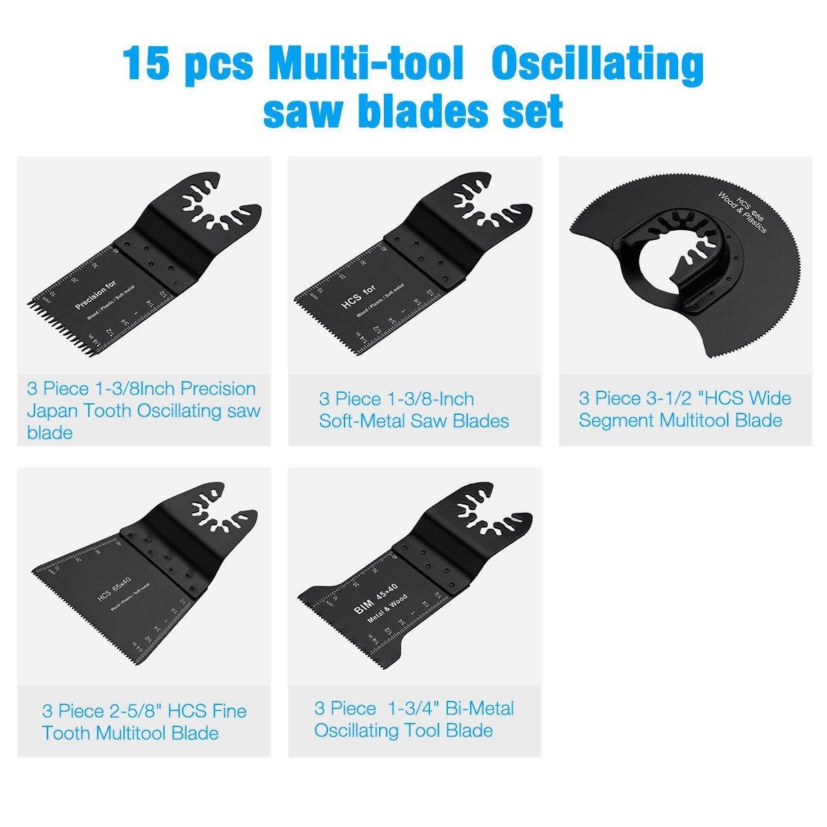"Black /& Decker 3 x 2-5//8/"" Fine Tooth Oscillating Saw Blades Matrix Multi-Tool"