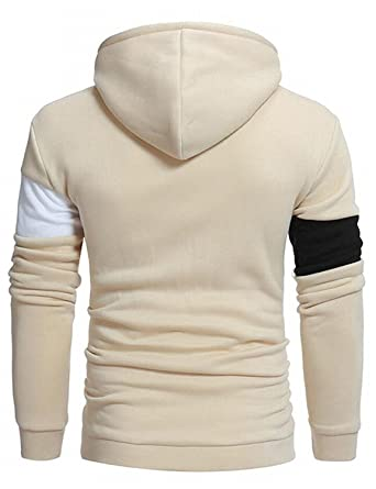 4783d9a8b8acd Spring Moon Handsome Men sr Patchwork Hoodies Plus Size Pullover Sweatshirts  1US 2X-Large