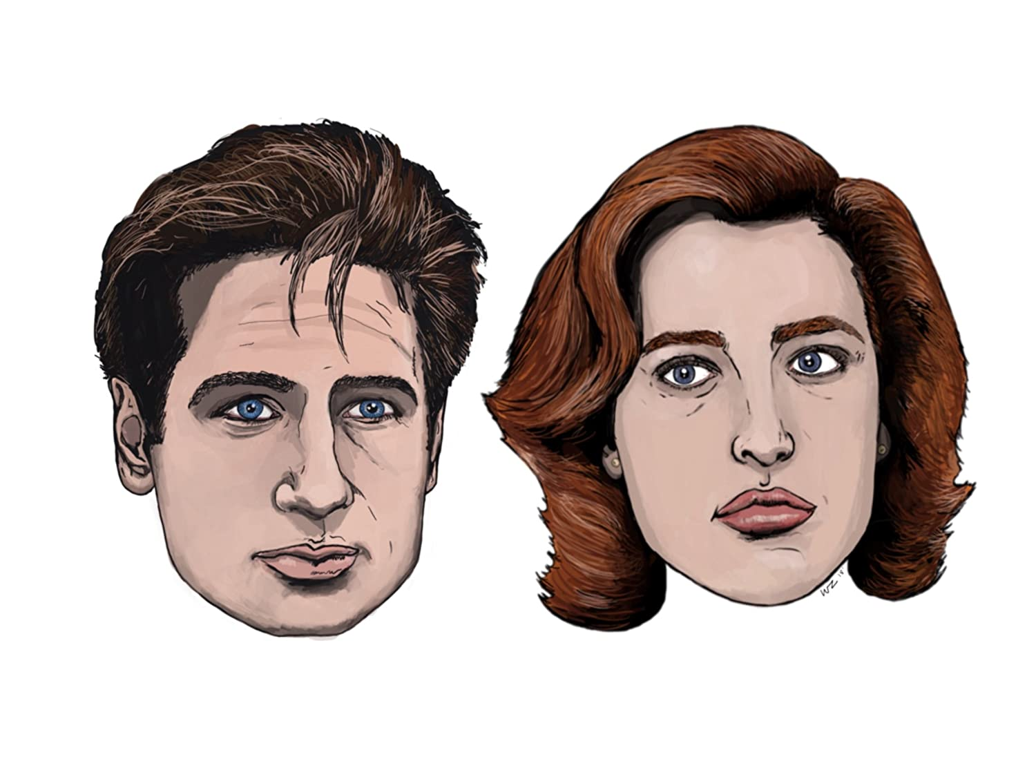 Amazon com x files mulder and scully sticker set garden outdoor