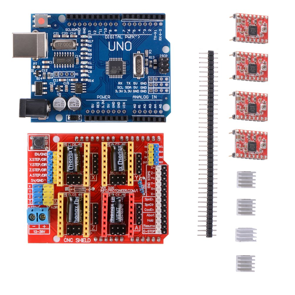 3d Printer Kit With Cnc Shield V30 Uno R3 Board W Usb Cable How To Make Custom Shields For A Microcontroller 4pcs A4988 Stepper Motor Driver Heatsink Business