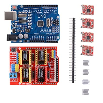 Kit de impresora 3D con CNC Shield V3.0 + UNO R3 Board Con USB ...