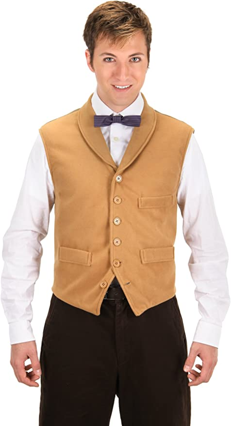 1920s Men's Costumes: Gatsby, Gangster, Peaky Blinders, Mobster, Mafia elope Fantastic Beasts and Where to Find Them™ Newt Scamander™ Costume Vest for Adults Men (L/XL) Tan $22.95 AT vintagedancer.com