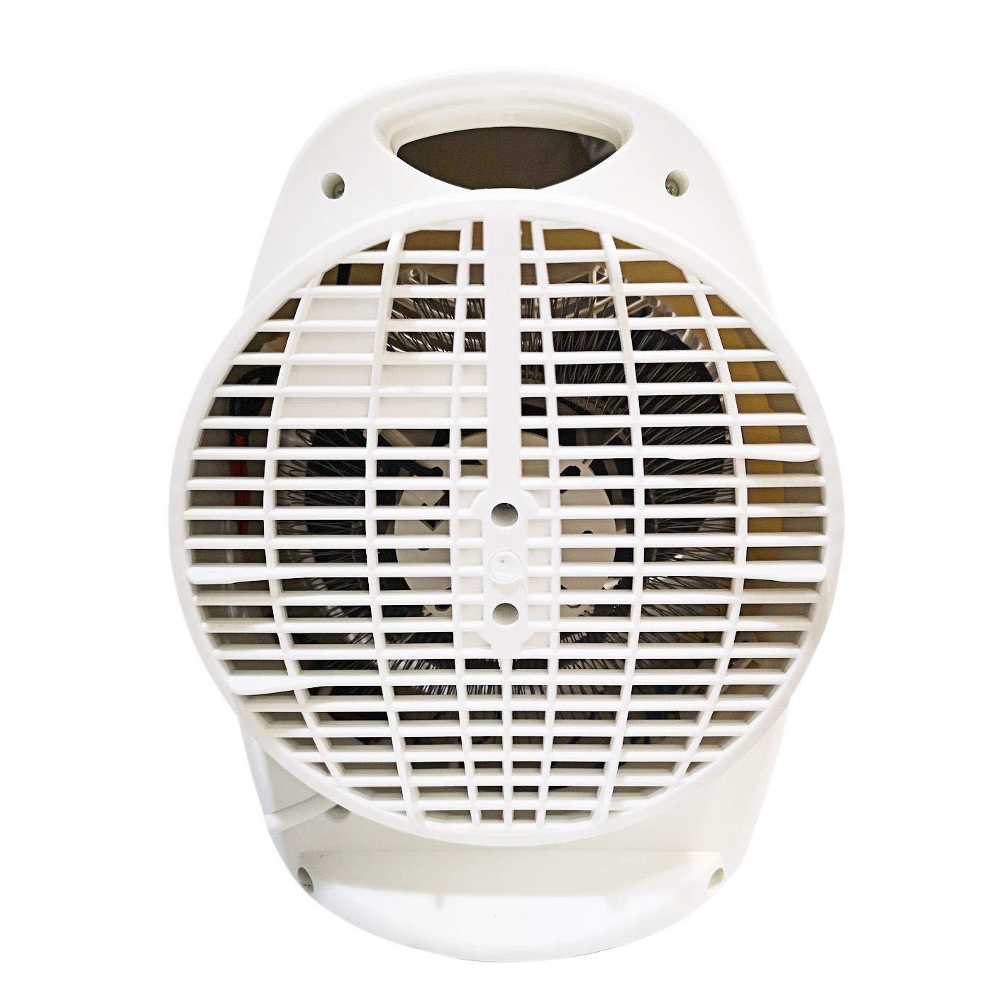 Calefactor ES-2003 1000//2000W Branco Tres Funciones Ajustables con Dos Niveles de Calor y Ventilador Modo Ventilador de Aire fr/ío,para Hogar y Oficina,Protecci/ón del Sobrecalentamiento