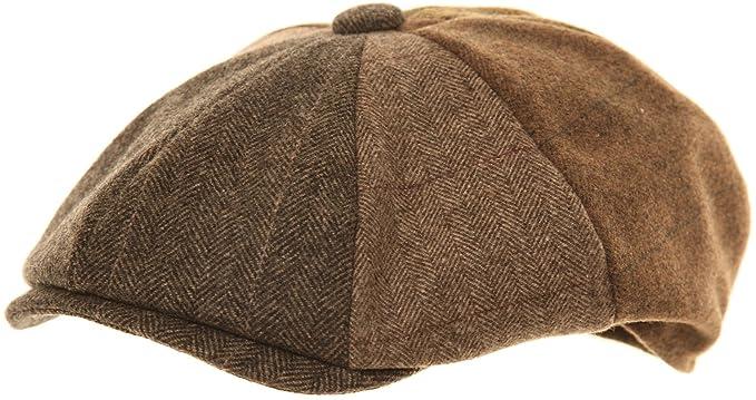 Mens Brown Baker Boy Cap  Amazon.co.uk  Clothing c2f9b05e6ba