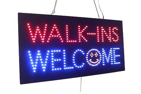 Amazon.com: walk-ins signo Positivo, Super Bright LED Open ...