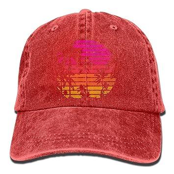 f6c93150 Sports Denim Cap Palm Tree and Sunset Unisex Snapback Caps Adjustable Plain  Cap