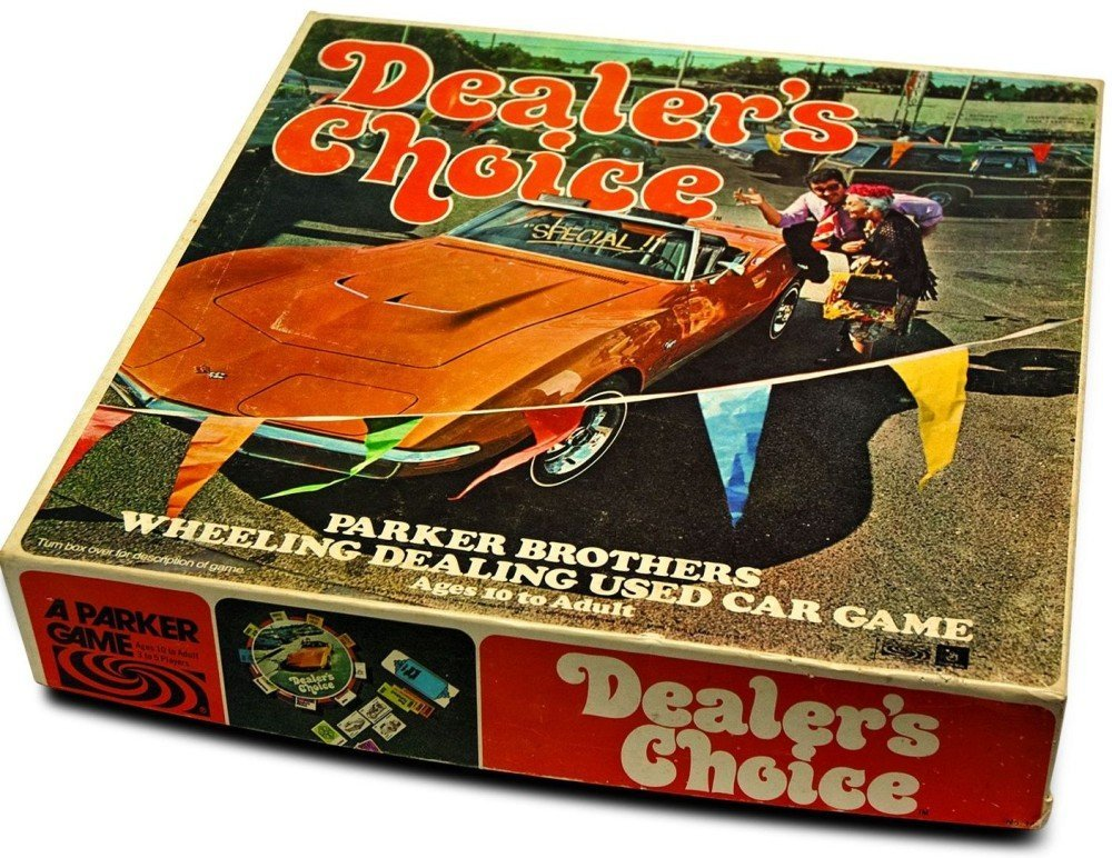 Dealer's Choice Wheeling Dealing Used Car Game by Parker