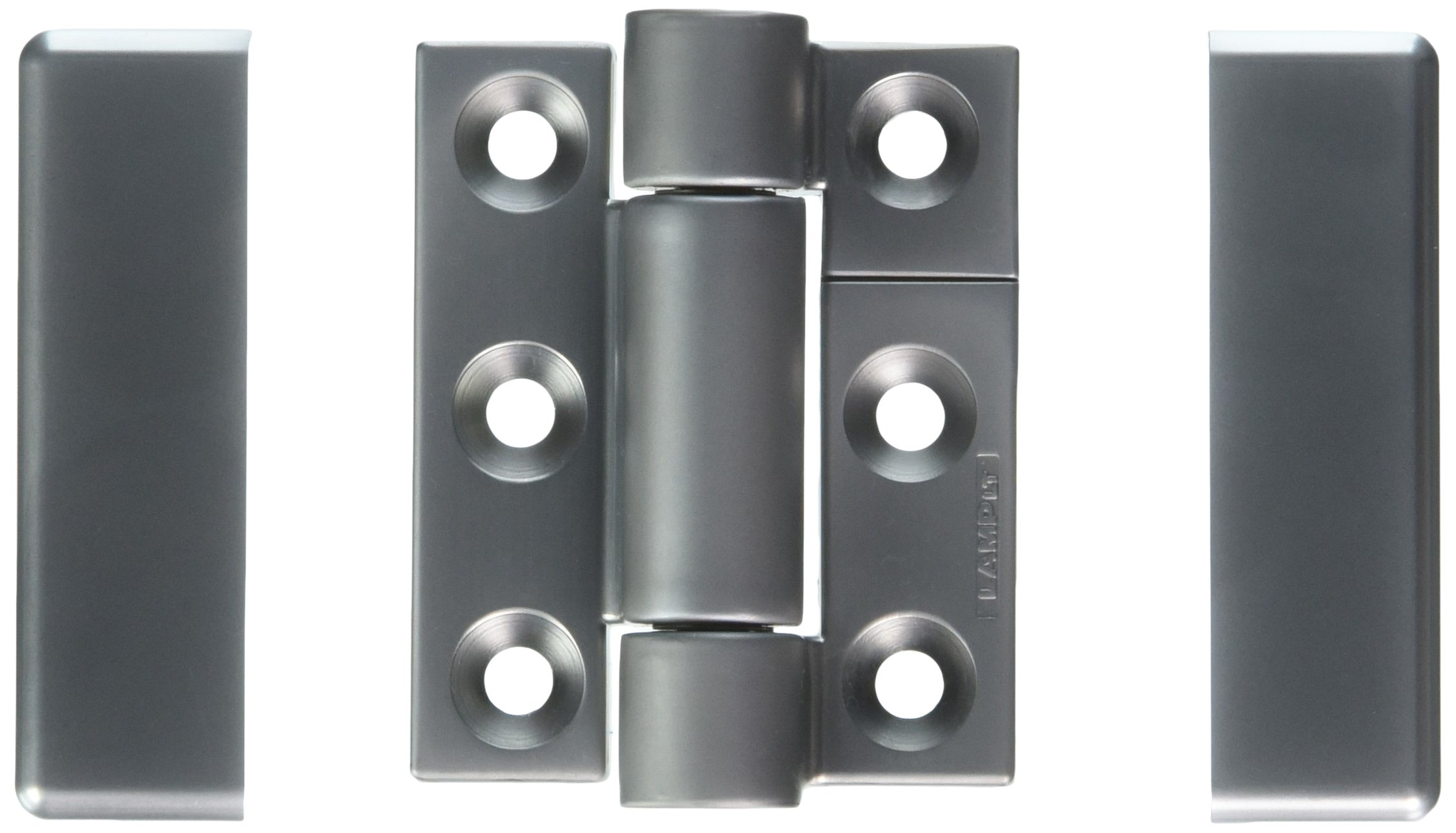 Sugatsune SK-T-ZA-2SCR Stainless Steel 304 Torque Hinge, Polished Finish, 5mm Leaf Thickness, 50mm Open Width, 15mm Pin Diameter, 65mm Height, 17 lbs inch Torque