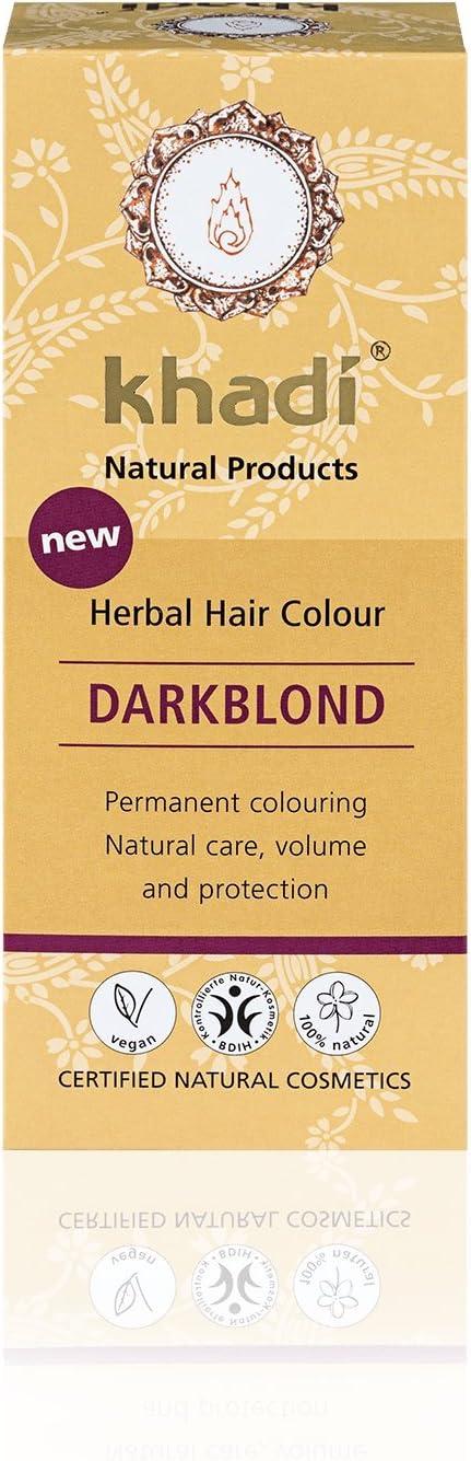KHADI - Tinte Vegetal Rubio oscuro - 100% natural - Para todo ...