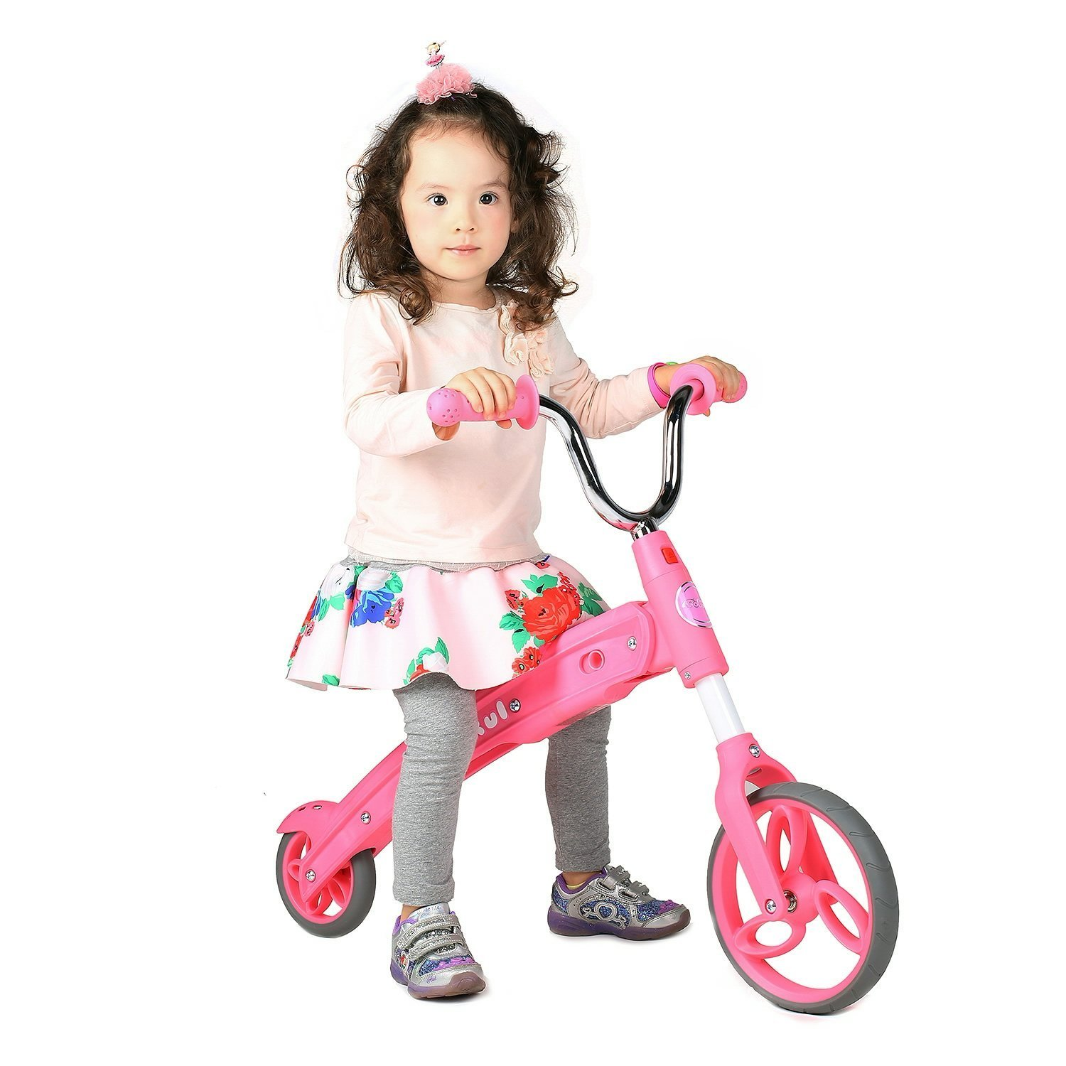 Vokul GX02 Kid Balance Bike Toddler Scooter Without Pedal for Age 3-5/Pink