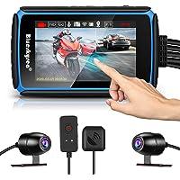 Blueskysea DV988 Cámara de salpicadero de motocicleta, 1080p, 30 fps, lente doble, gran angular de 140 grados, grabación…