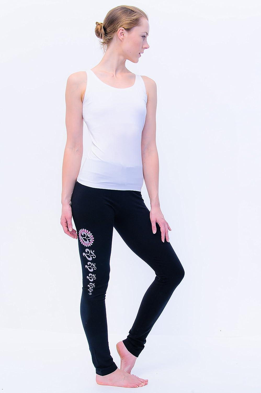 Yoga Asana legging black-handpainted oms-yogamasti