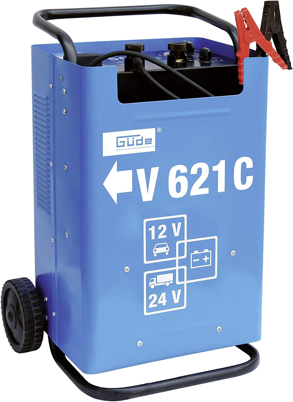 Gude V 621 C Azul - Cargador (22 kg, Azul, Cargador de baterías para Interior, Sobrecarga, Polaridad inversa, Negro)