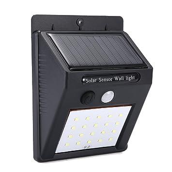 Pathonor 20 LED Luces de Pared Solar, Lámparas Solares de Pared con Sensor de Movimiento