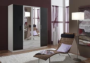 Perfekt Dreams4Home Drehtürenschrank U0027Isa XL, Schlafzimmer, Schrank, Weiß,  Anthrazit, Schwarz,