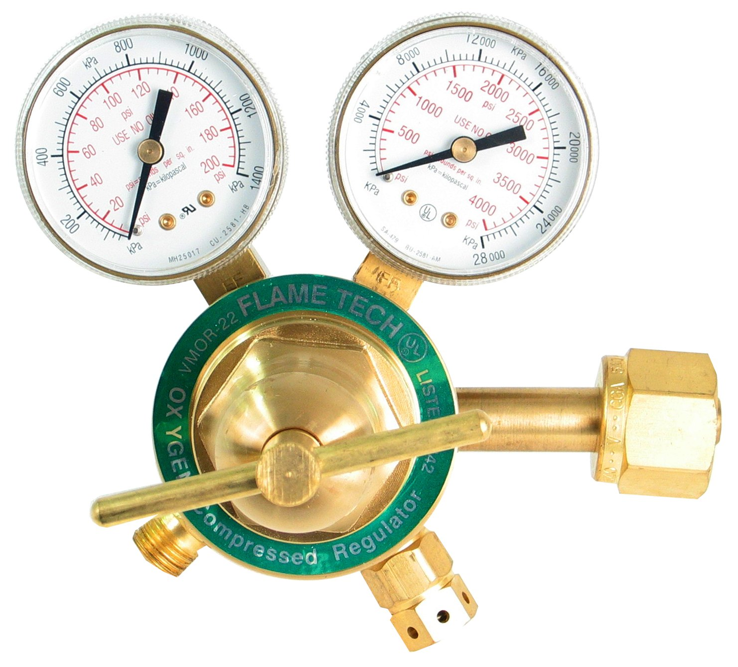 Flame Technologies VMOR-22 Medium Duty Oxygen Regulator, Victor Compatible by Flame Technologies