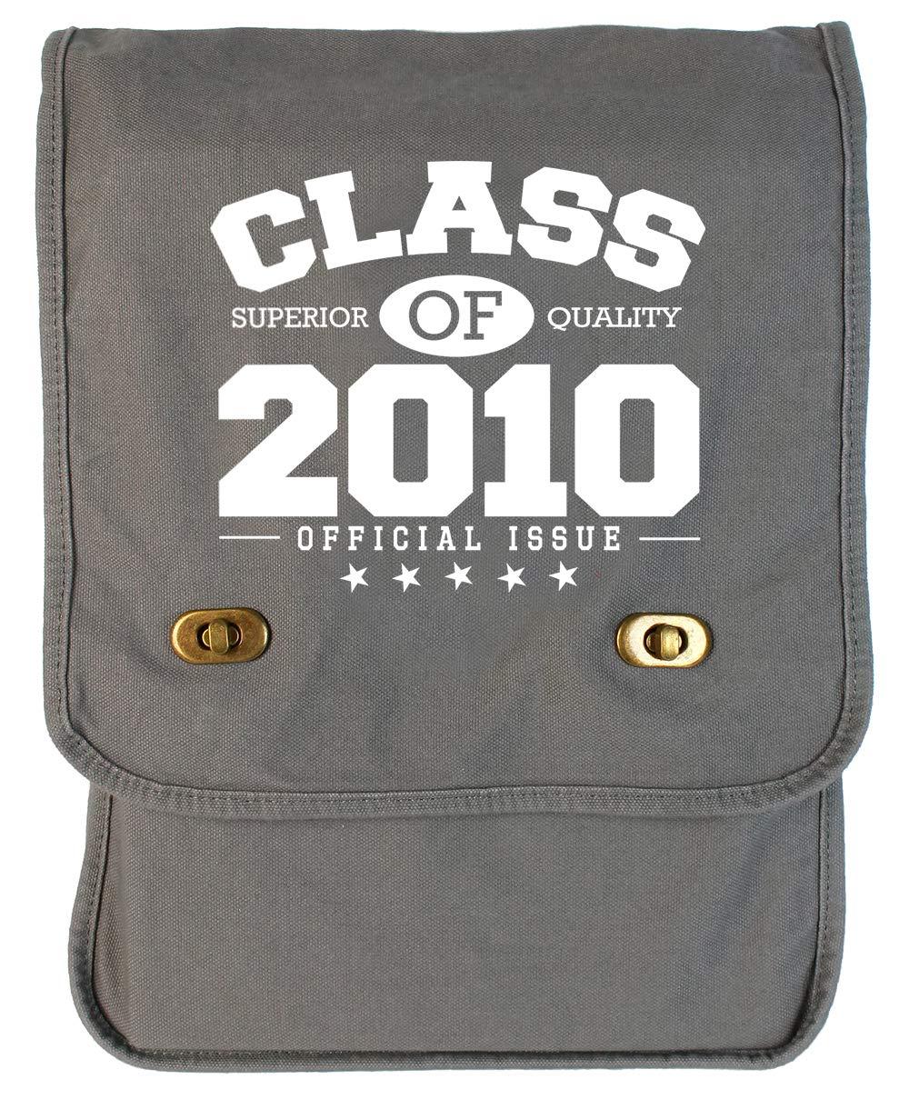 Tenacitee Class of 2010 Grey Brushed Canvas Messenger Bag