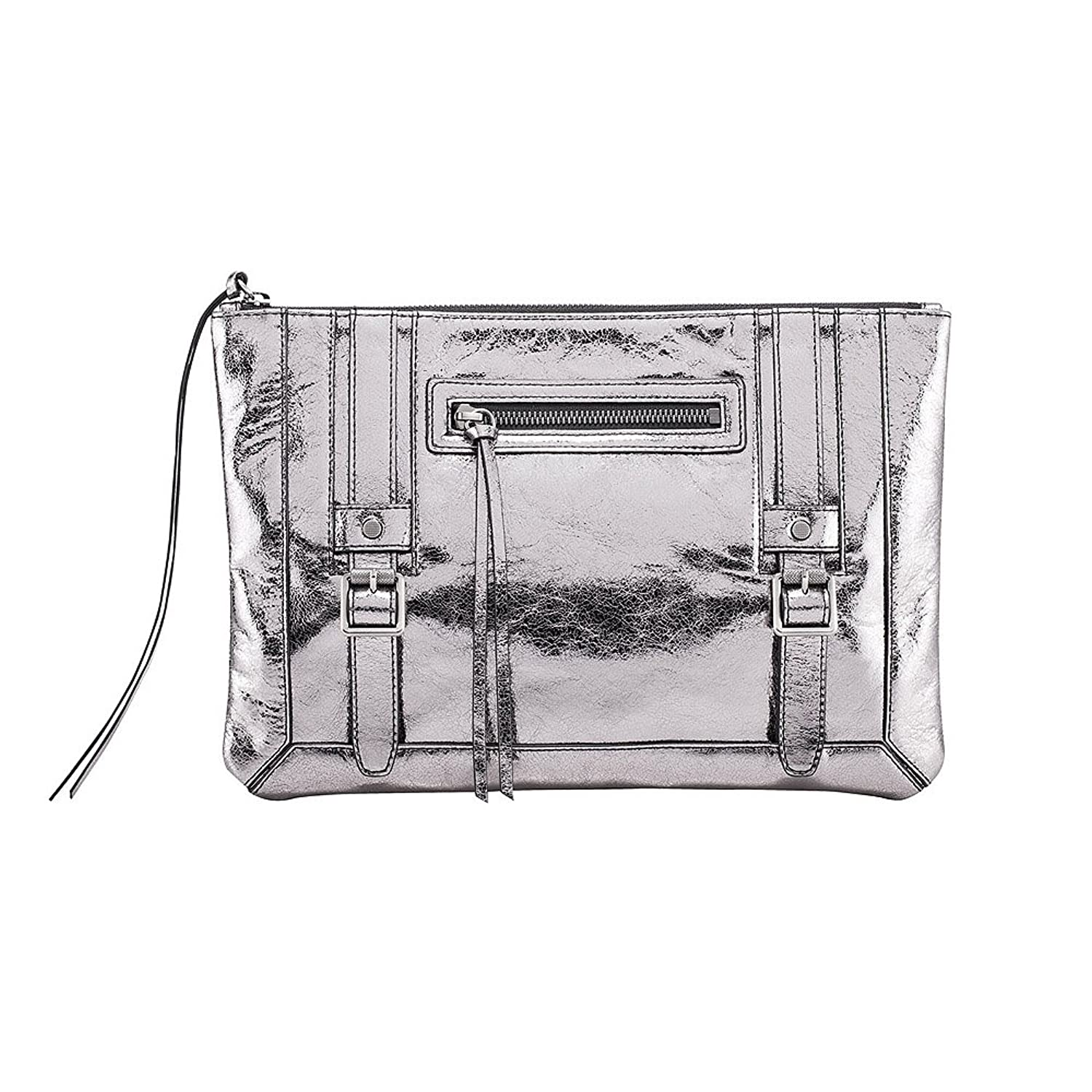 MADGOAT Two-buckled Genuine Leather Clutch Bag