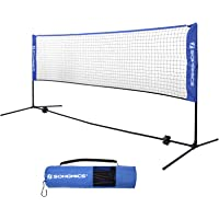 SONGMICS 4 Metri di Lunghezza Rete da Tennis Badminton Portabile Pieghevole Altezza Regolabile 90-155 cm SYQ400