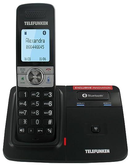 Telefunken TX 101 Touch - Teléfono fijo inalámbrico DECT/GAP (contestador, manos libres