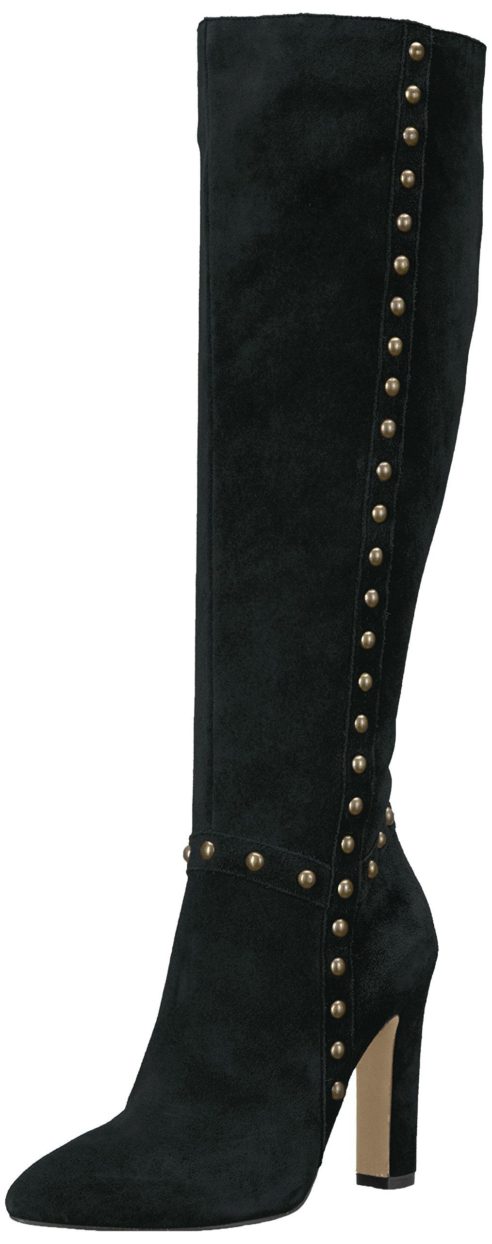 The Fix Women's Kelly Knee-High Studded Boot, Black, 7.5 B US