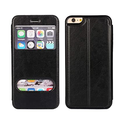 Amazon.com: Coque for SE Cover Window View Case Flip ...