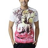 Huetrap Men's Cosmic Buddha Round Neck T-shirt