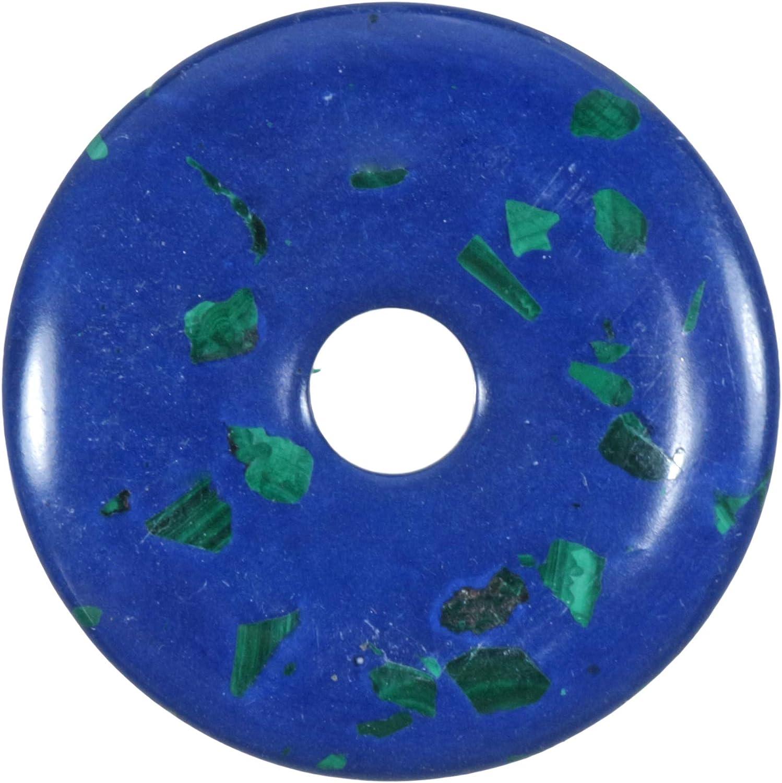 Fuente de Vida Plus Azurit-Malchit Piedras Preciosas Donut Ø 40 mm Colgante