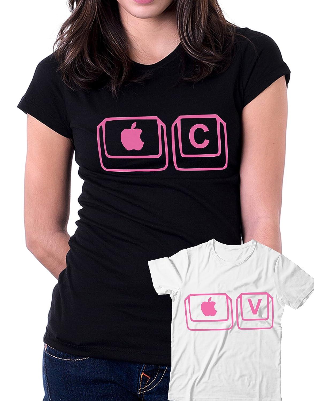 Coppia Tshirt e Body Madre Figlio Festa della Mamma Mela V Humor Mixed Shirt C Mela + Ctrl Idea Regalo Parody C Ctrl