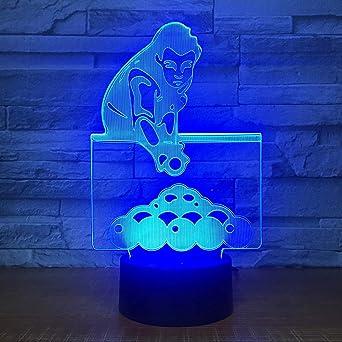 Juego De Billar 3D Led Luz De La Noche Escritorio De La Tabla De ...