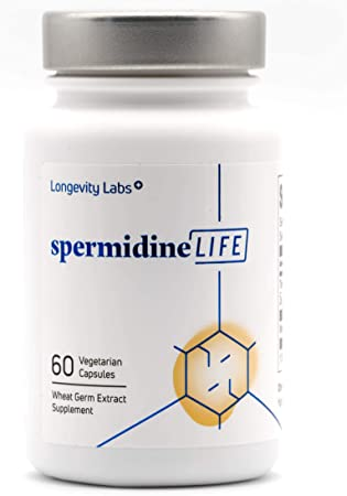 spermidineLIFE® Natural Supplement, Wheat Germ Extract with High Spermidine Content and Zinc for Cell Renewal, 60 Capsules