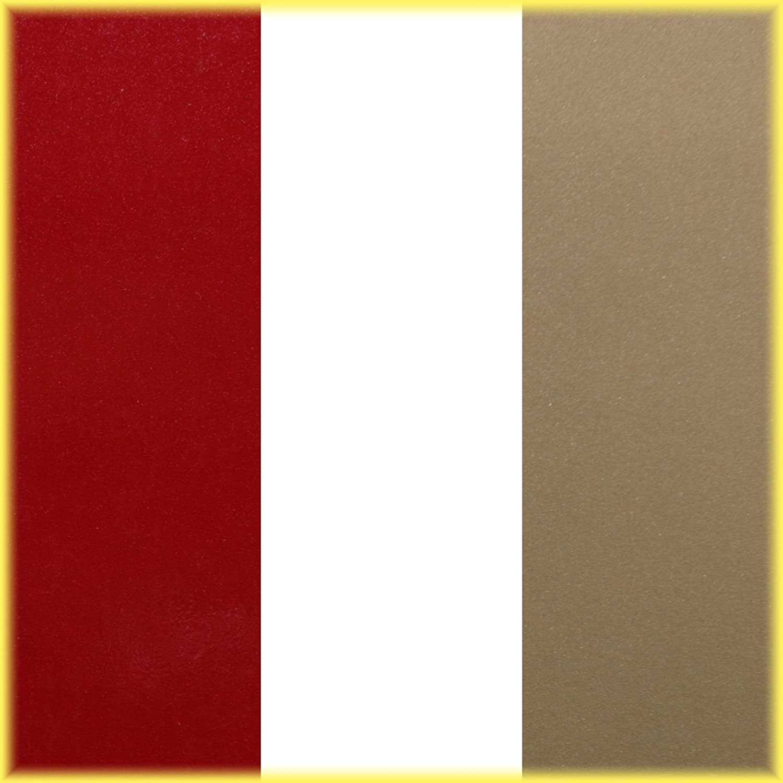"Universal Duo-Tone 0204235 Auto Customizing 2-Color Dual Pinstripe - 235-Red//Silver Metallic 1//8/"" Stripe, 1//16 Gap, then 1//16/"" Stripe 4//16 x 150"