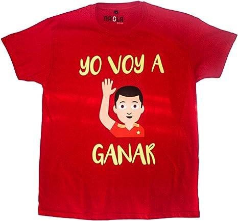 Naola design Camiseta España Mundial Hombre,Yo voy a Ganar, solidaria, Fundación Aladina, Algodón, Color Rojo, Mundial Rusia 2018: Amazon.es: Ropa y accesorios