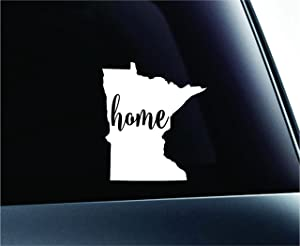 #3 Home Minnesota State Saint Paul Symbol Sticker Decal Car Truck Window Computer Laptop (White)