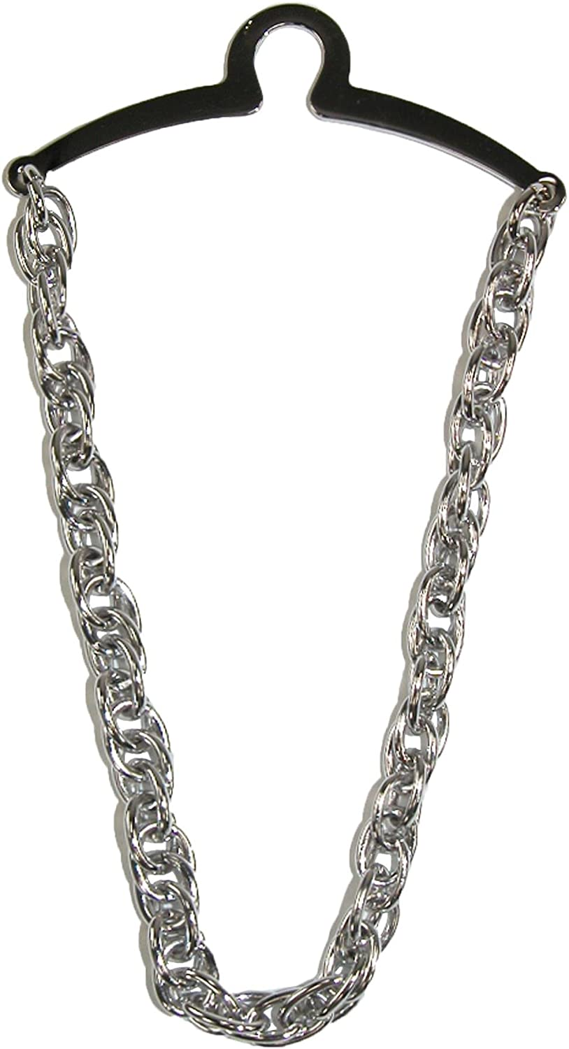 Competition Inc. Men's Double Loop Tie Chain, Silver