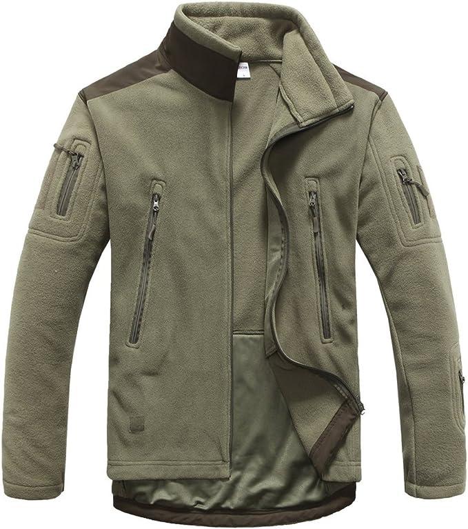 Bl/öchel Wind A wasserdichter Windbreaker Warme Fleece-Jacke mit Membrane Wandererjacke Oliv /Übergr/ö/ßen S-5XL