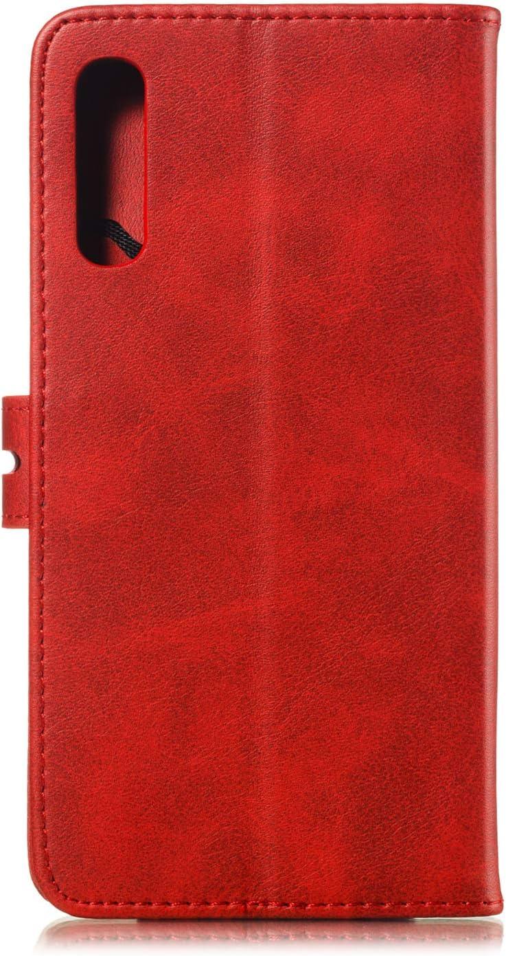 A30S H/ülle Leder Schutzh/ülle Brieftasche mit Kartenfach Klappbar Magnetisch Sto/ßfest Handyh/ülle Case f/ür Samsung Galaxy A50 Lomogo Galaxy A50 LOXLI010154 Grau A50S