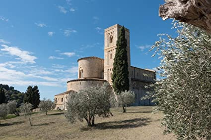 Gifts Delight LAMINATED 36x24 inches Poster: Abbey Monastery Church Romanesque Tuscany Italy San 'Antimo