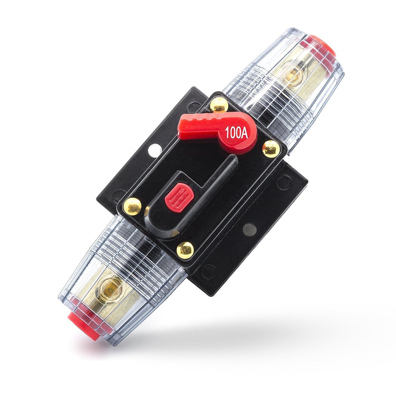 Adapter-Universe 40 A ~ 100 A Swtich fusible automá tico 12 V/24 V protecció n contra salpicaduras para coche barco de moto etc. 8602