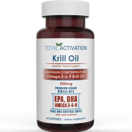Amazon Com Krill Oil Omega 3 6 9 Fatty Acids With Astaxanthin