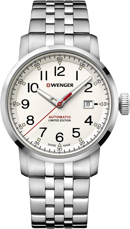 Wenger Hombre Attitude - Reloj de Acero Inoxidable de Cuarzo analógico de fabricación Suiza 01.1546.102
