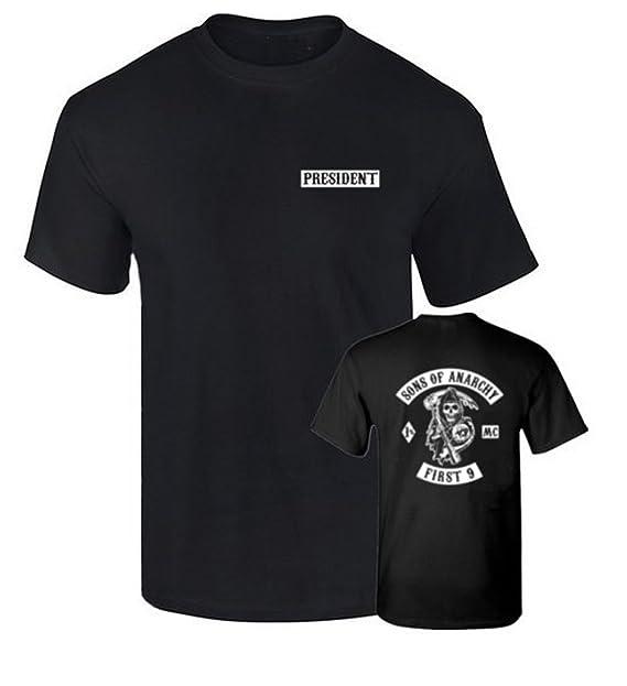 B & C Camiseta President Hijos de la anraquia Sons of Anarchy Algodon Calidad 190grs ChMRiwo
