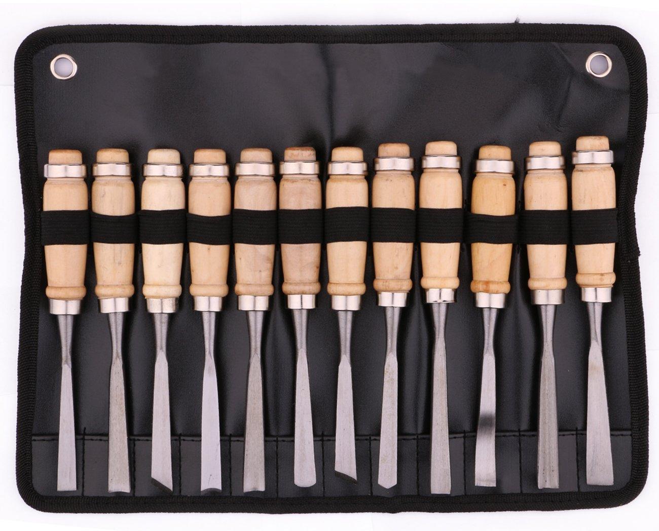 Professional 12 Piece Wood Carving Chisel Set, kattool Wood Carving Tools,Carving Kit with Carrying Case 4336912263