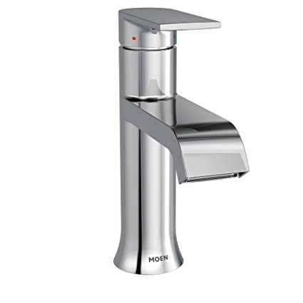 Moen 6702 Genta High Arc Single Handle Bathroom Faucet With Drain Assembly,  Chrome