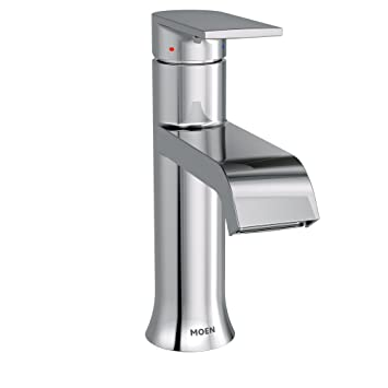 Moen 6702 Genta High Arc Single Handle Bathroom Faucet With Drain