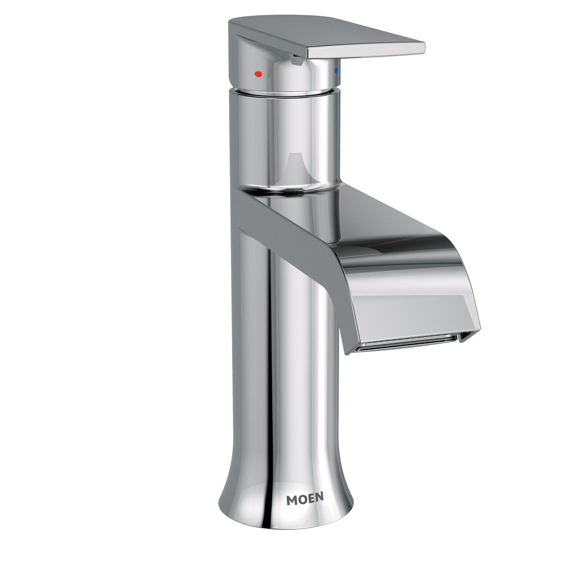 Moen 6702 Genta One-Handle High-Arc Bathroom Faucet with Drain Assembly, Chrome