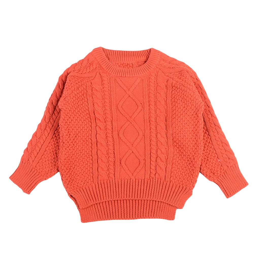 Jojobaby Toddler Baby Boy Girl Cable Knit Pullover Sweater Cotton Lined Warm Sweatshirt for 1-4T