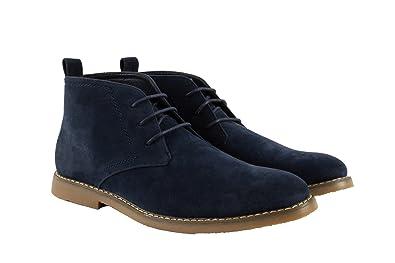 Men's Desert Boot Chukkas Blue Size 9.5