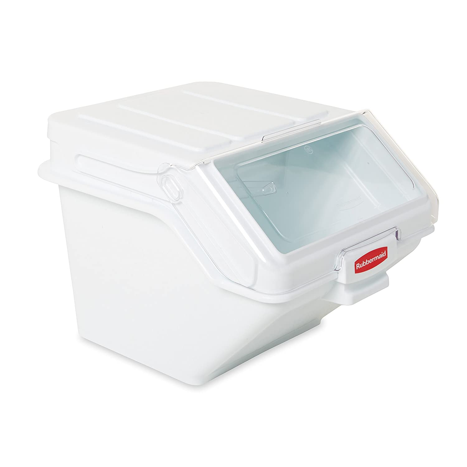 Rubbermaid Commercial ProSave Shelf Ingredient Bin with Scoop, 200-Cup, White, FG9G5800WHT